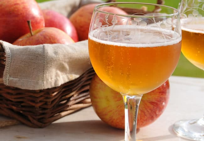Glasses of cider from Calvados