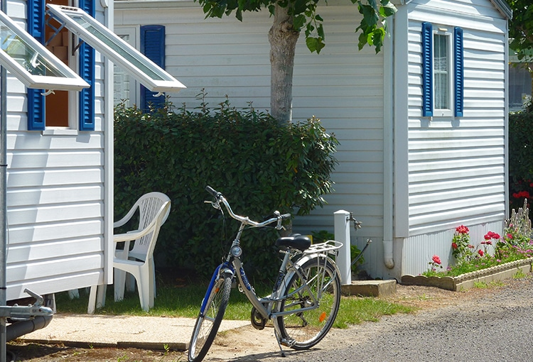 Bicycle in a Calvados campsite