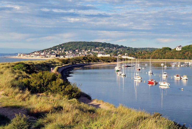 Pointe de Cobourg dans le Calvados en Normandie
