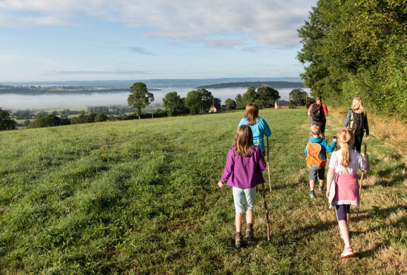 A family walk in Calvados, in Normandy