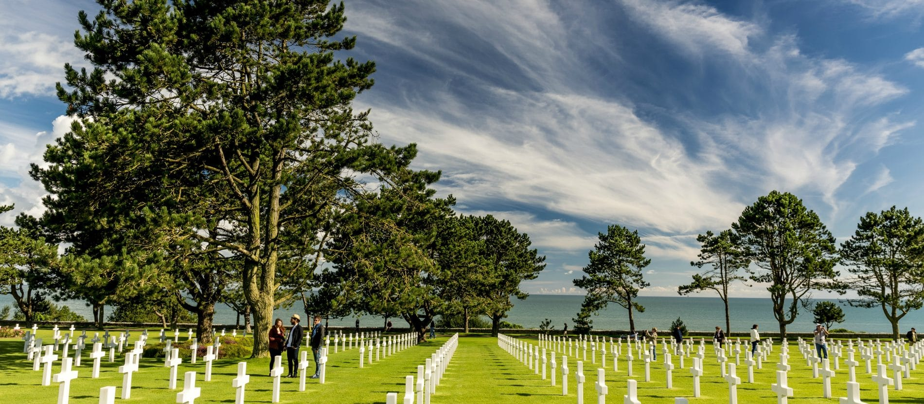 The Normandy American Cemetery and Memorial in Colleville-sur-Mer