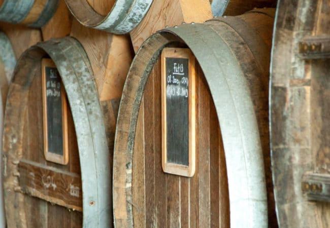Vats in a Calvados distillery