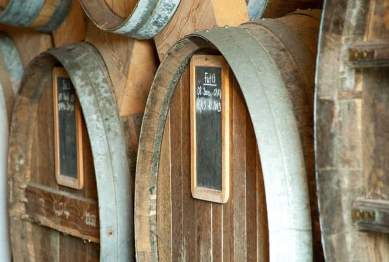 Vats in a Calvados distillery