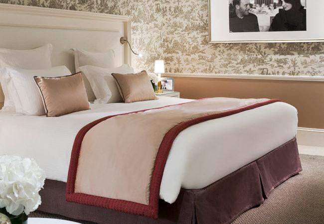 Hotel bedroom in Calvados