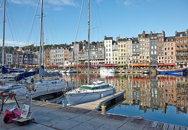 Honfleur's old harbour in Calvados