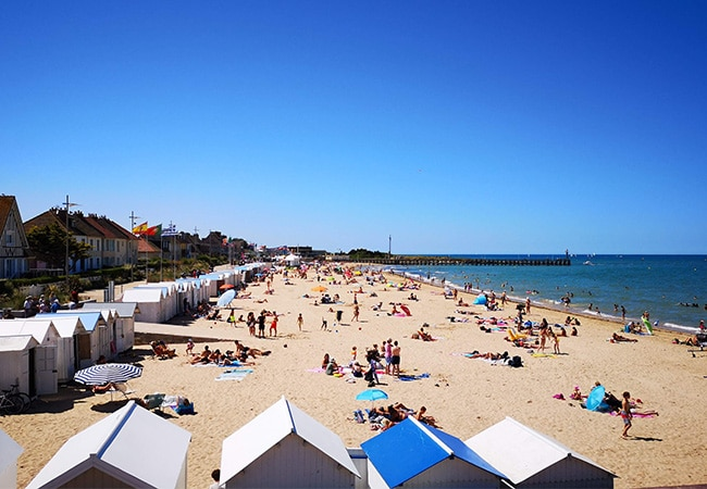The beach at Courseulles