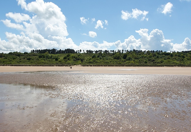 Omaha Beach at low tide