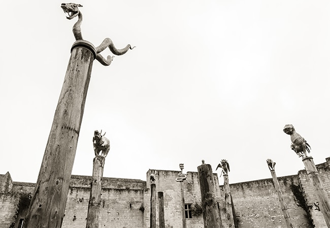 The sculpture park in caen