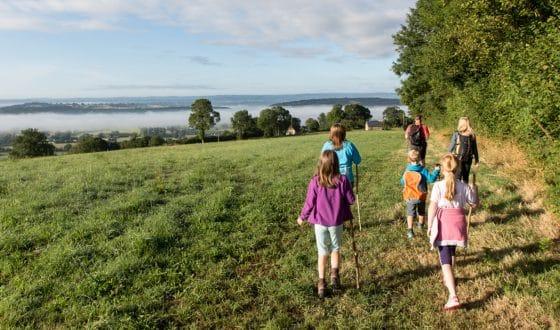A family walk in Calvados, in Normandy