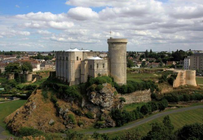 panorama sur le chateau Guillaume le Conquérant de Falaise