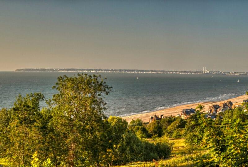 Panorama sur la mer